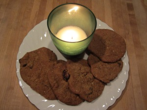 cookies and candle
