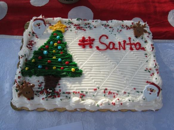 #Santa cake