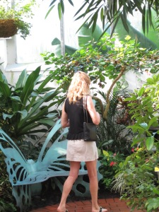 Laura at butterfly conservatory