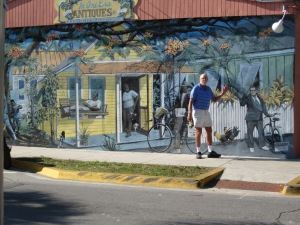 Roger with Key West mural
