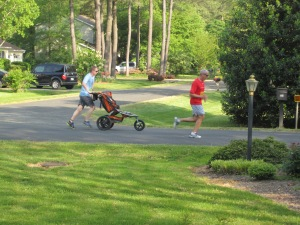 runners with strollers