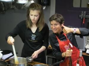Ellen cooking