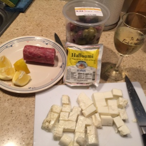 halloumi cheese prep