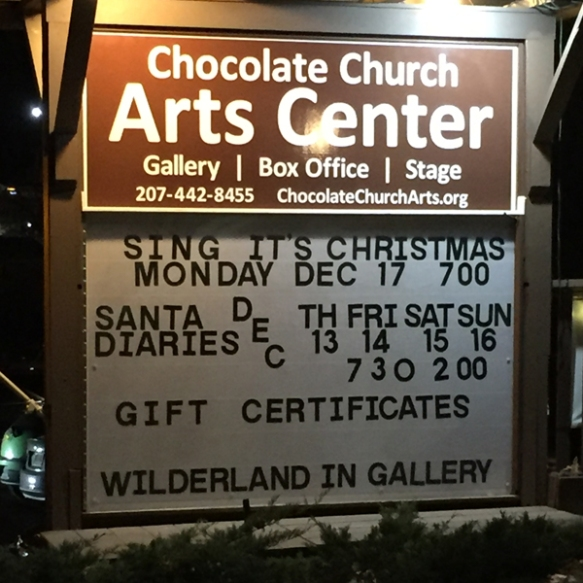 chocolate church sign smaller